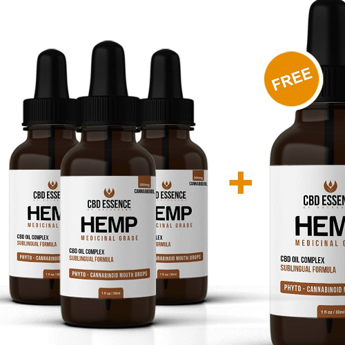 4 Pack Of Edible Hemp Oil