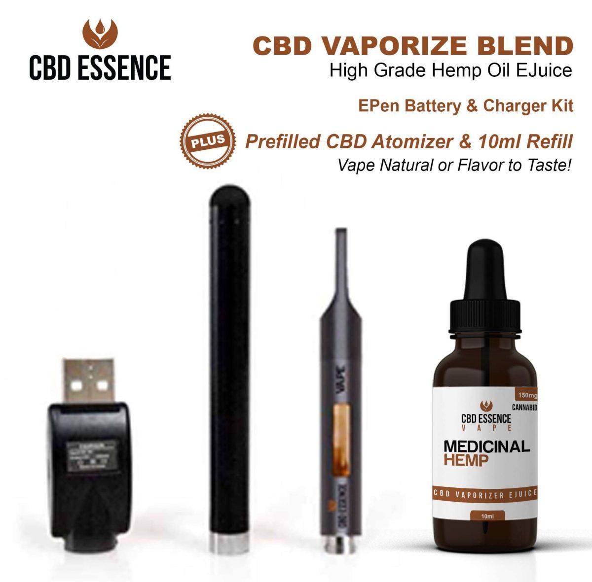 CBD Oil Vape Pen Starter Kit By CBD Essence