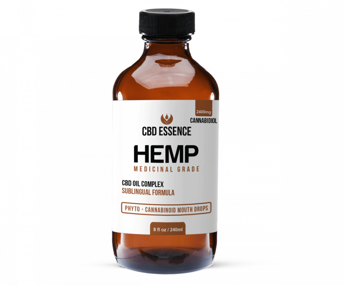 Full Spectrum CBD Oil 8 oz Hemp Tincture by CBD Essence