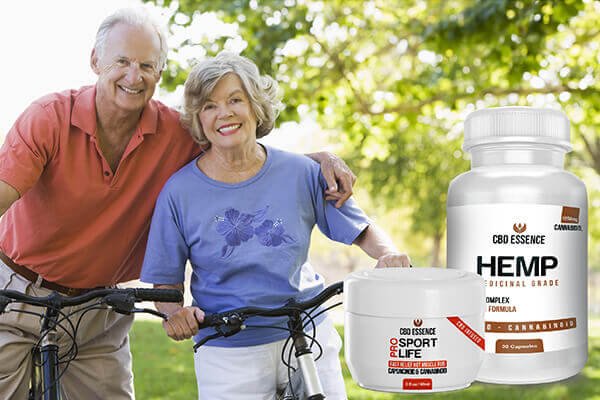 Couple with CBD Topical and Capsules By CBD Essence